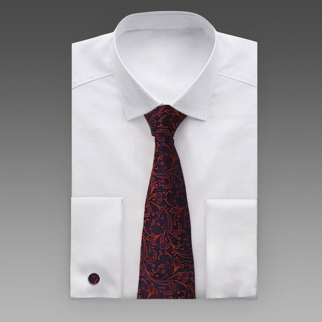 Y/&G Mens Fashion Luxury Gift Multi-colored Paisleys Silk Tie Cufflinks Hanky Set 3PT for Mens