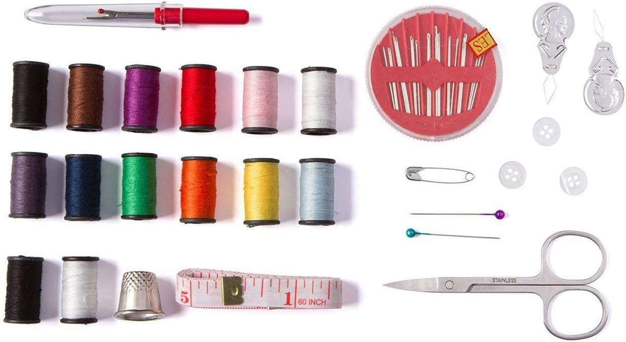 Noir//27pcs Caroline Philipson Trousse De Couture Bricolage Accessoires De Couture Haut De Gamme Mini Kit Sew Fournitures Mending