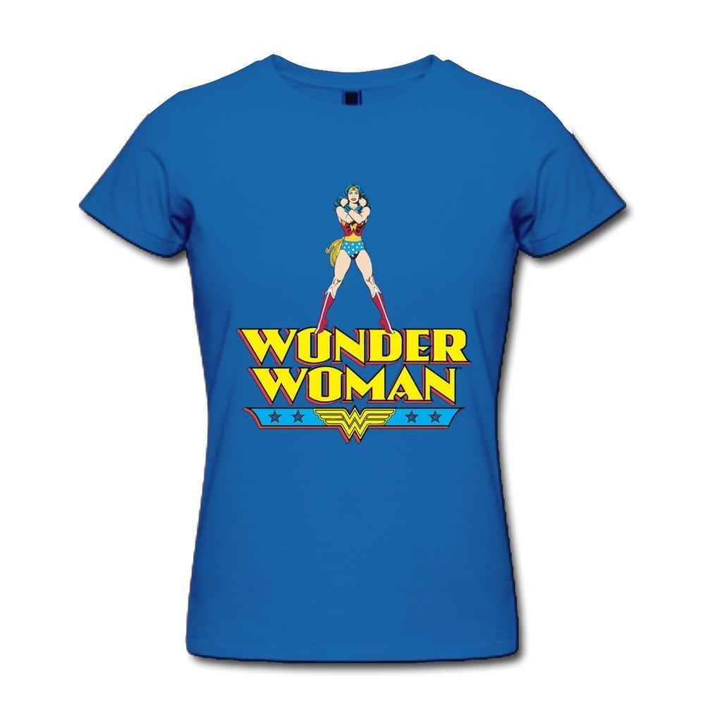 AOPO Wonder Woman WW LOGO T-shirt For Women