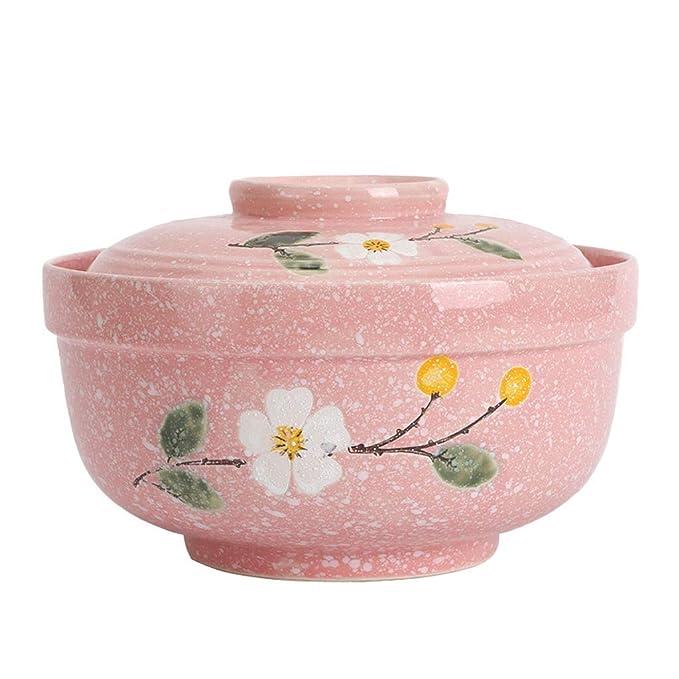 Copo de nieve Sopa de porcelana Tazón de fideos con tapa Ensalada ...
