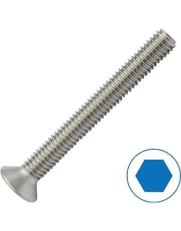 Viti a testa con esagono interno ISO 7380 a2 in acciaio inox nero m2 5x5 fino a 16mm