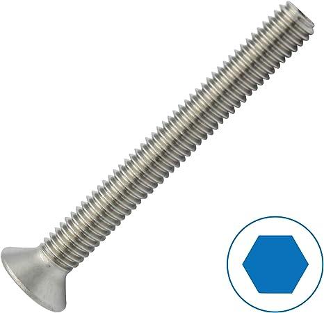 M4*16 mm Lot de 100 vis /à t/ête frais/ée en acier inoxydable M4 Vis /à t/ête frais/ée DIN 7991
