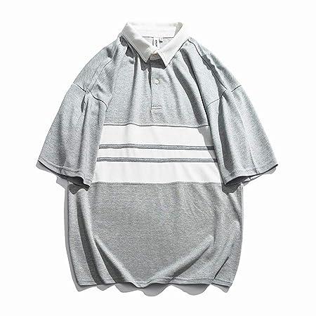 AndyJerzy-CTS Camiseta Casual de los Hombres Camisa Polo de ...
