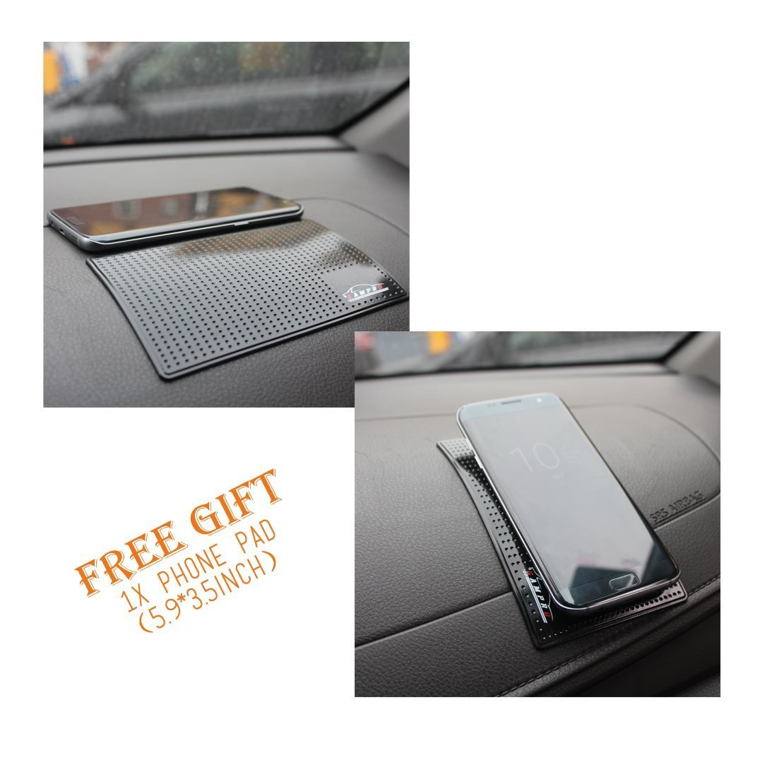 GAMPRO 3-Pack Car Window Sun Shade 51cm x 31cm Keeps Harmful UV Rays Away From Your Family 2-Layer Pop-Up Car Window Shade with Static Cling Technology for Your Kids and Pets