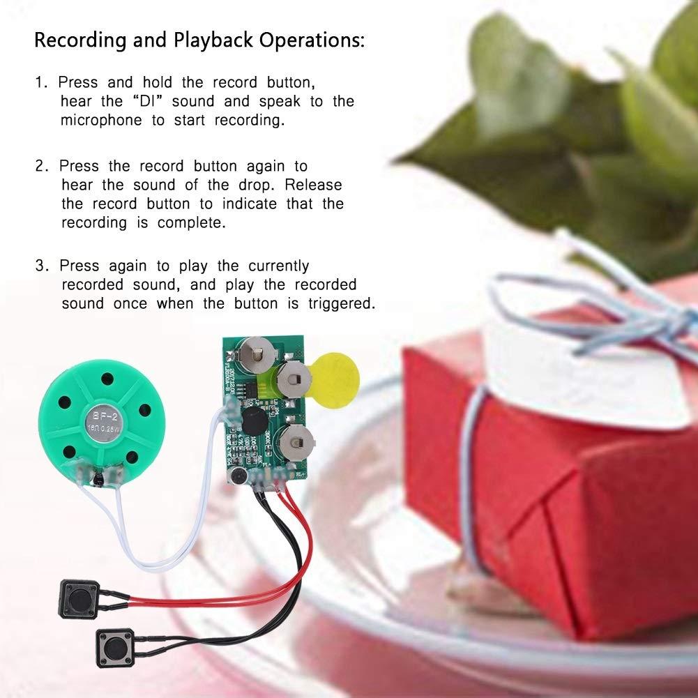 Biglietto di Auguri Registrabile 4 Minuti Biglietto di Auguri Registrabile Chip Vocale Modulo Audio Chip Musicale Registra il tuo Biglietto di Auguri per Biglietto di Auguri FAI DA TE Schede Audio Re