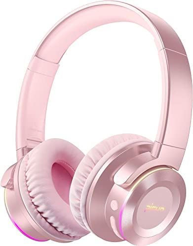 Picun B9 Wireless Bluetooth Headphones with Mic 40H Playtime Wireless Headphones Over Ear Deep Bass Foldable Headset for TV PC Tablet Cellphone – Rose Gold for Women