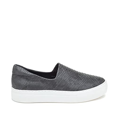 c27ec288a2b5 J Slides NYC Ariana Snake-Embossed Slip-On Sneaker Dark Gray 7.5M ...