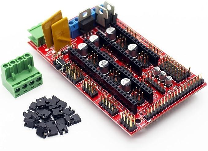 ICQUANZX Controlador de Impresora RAMPS 1.4 Mega Shield 3D para ...