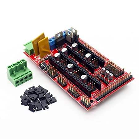 ARCELI Controlador de Impresora RAMPS 1.4 Mega Shield 3D para Arduino Reprap Prusa Mendel