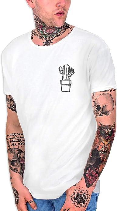 VIENTO Cactus Camiseta Cuello Abierto para Hombre: Amazon.es: Ropa y accesorios