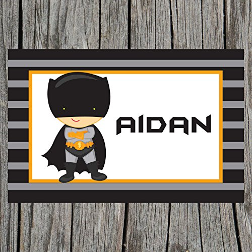 Caped Superhero Personalized Placemat for Kids