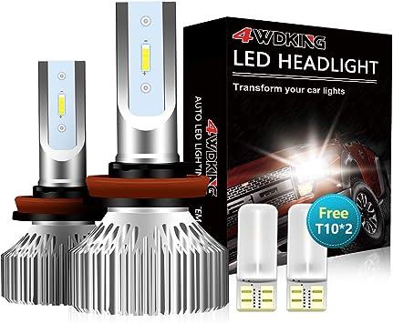 2 PCS H7 Car LED Headlights Kit 8000LM Fog Light Bulbs Low Beam High Power 6500K