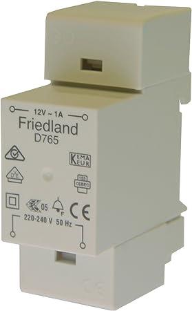Friedland D765 Transformador de timbre 12 V