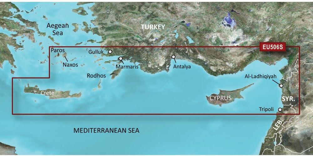 Garmin VEU506S SD Card Crete To Cyprus