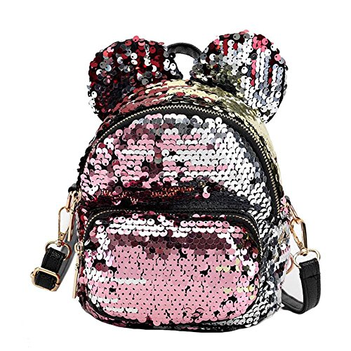 Shoulders Sequins Silver amp; Bag Shaped Sequins Glittering amp; Ears for Bag MaiYi Mini Ideal Childerns Adult Gold wT0dBUx0pq