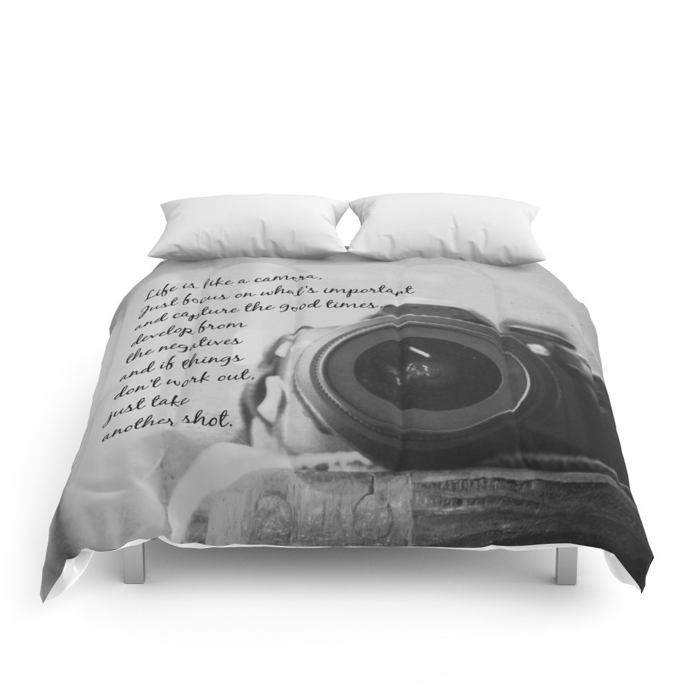 Society6 Life Is Like A Camera Comforters Queen: 88'' x 88'' by Society6