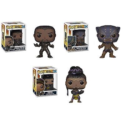 Funko POP! Black Panther: Black Panther + Warrior Falls Black Panther + Shuri – Marvel Vinyl Bobble-Head Figure Set NEW