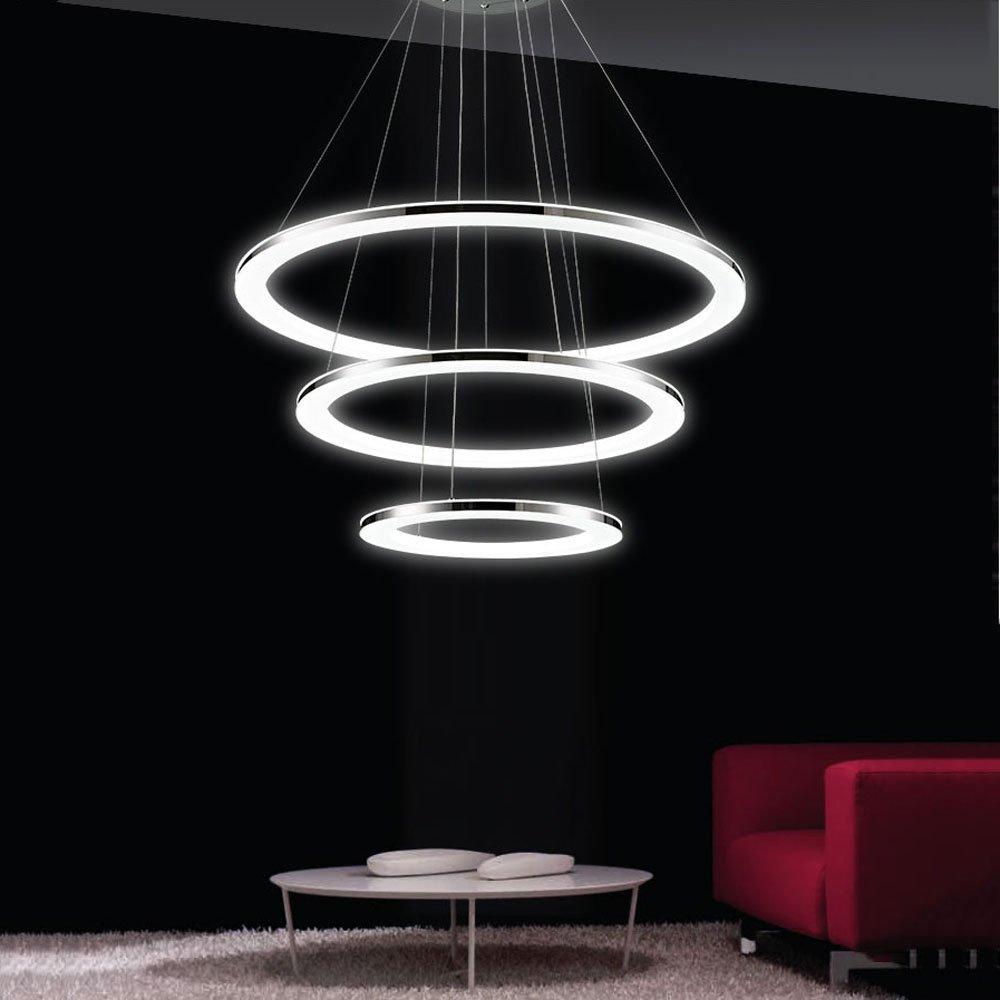 Lámpara Colgante de Techo,LED Araña Iluminación Luz Interior Pendiente Control Remoto 3*DIY