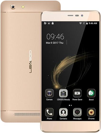 LEAGOO Shark 5000 5.5 Pulgadas HD IPS Teléfono móvil MT6580A Quad Core 1 GB RAM 8 GB ROM Android 6.0 13MP 5000mAh Smartphone (Oro): Amazon.es: Electrónica