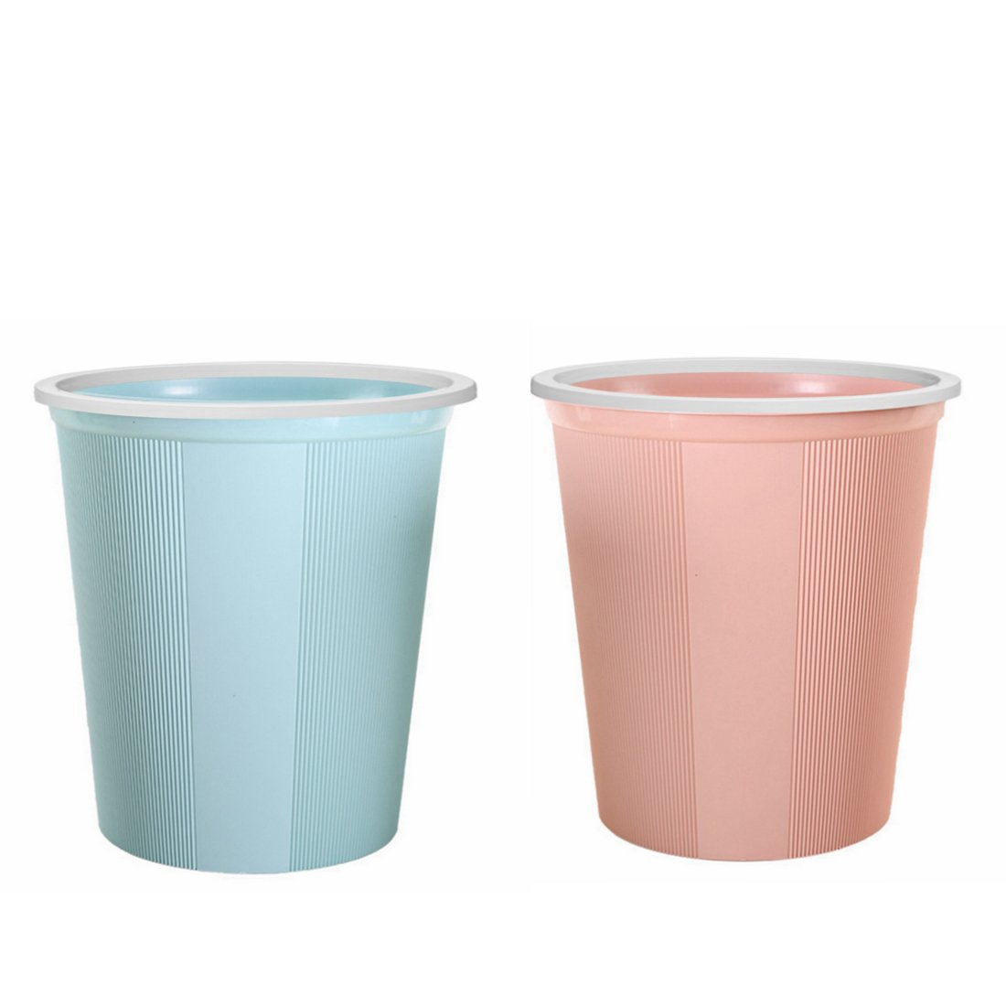 Waste Bin Small, XSHION [2 Pack] Waste Paper Baskets Trash Can Bathroom Garbage Bins without Lid