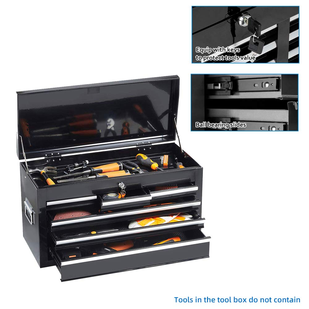 Tool box 8-Drawer,Portable Tool Chest with Wheels and Drawers for Storage Garage,Top Chest Removable Rolling Tool Cabinet,Top/&Bottom Key Lockable Orange
