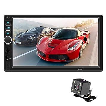 Miss de a 7 Pulgadas 2 DIN Radio de Coche con GPS Navegación, Marcha atrás (Opcional), soporta MirrorLink/Bluetooth Manos Libres/Am/FM/RDS/USB/TF/AUX ...