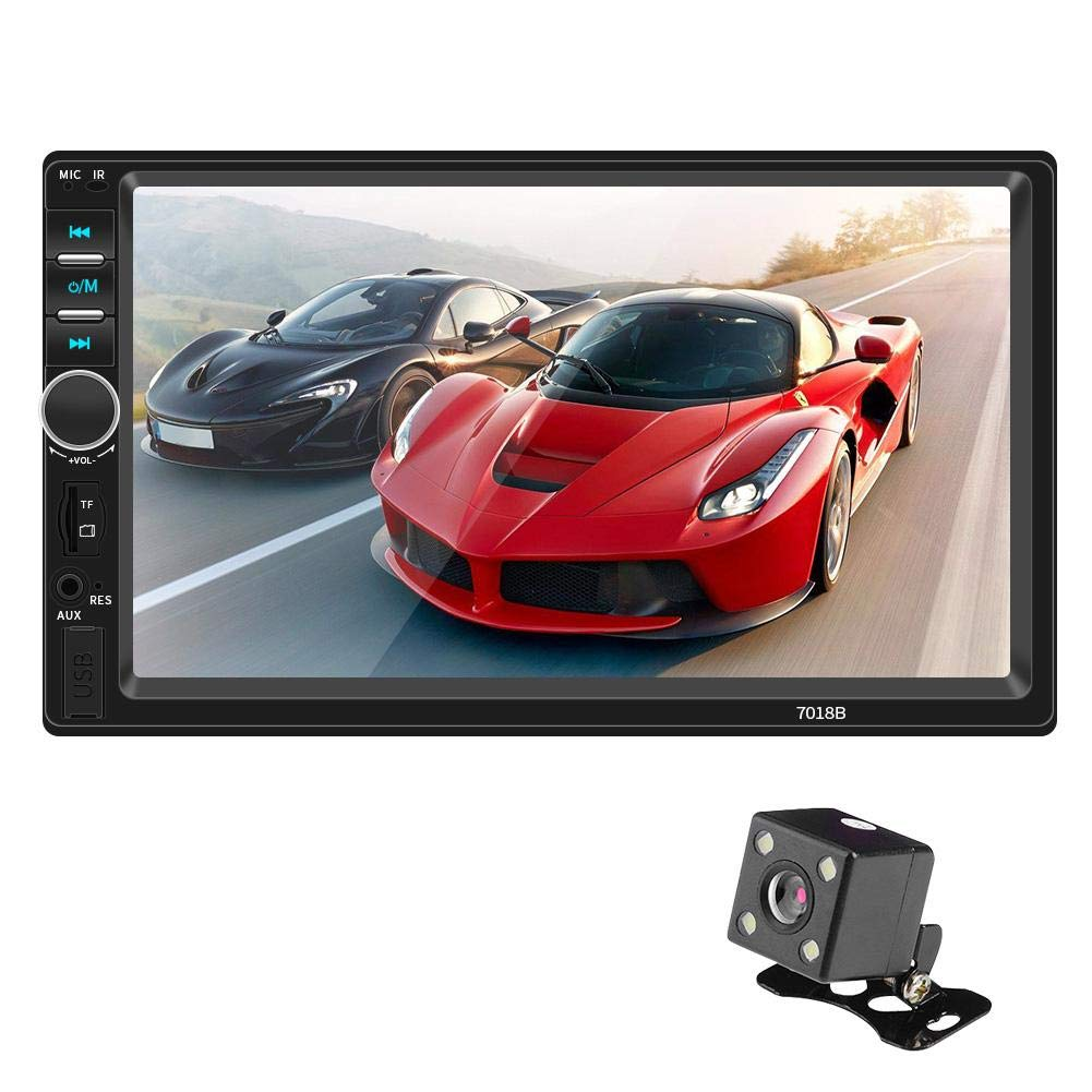 DLMZY 7 Inch Car Stereo Stereo Radio Car Dual Ingot MP5 Card Player Can Be Connected to The Camera