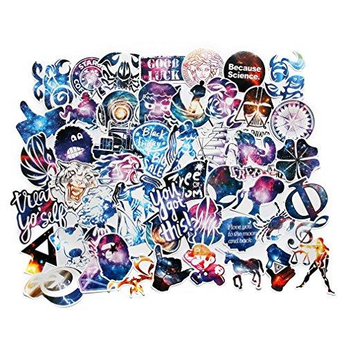 Car Stickers Pack 100pcs FNGEEN Harajuku Galaxy Laptop Stick