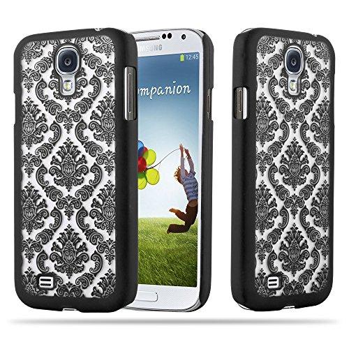 Cadorabo - Mandala Hard Cover Slim Case Protección para Samsung Galaxy S4 - Cover Funda Protectora Carcasa Dura Hard Case Paisely Henna en TRANSPARENTE con NEGRO NEGRO