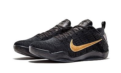 Nike Kobe XI 11 FTB Flyknit Premium Black-Metallic Gold 869459-001
