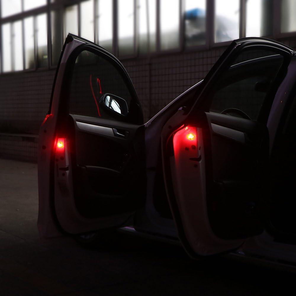 061F LED-Türleuchte Autotür-Warnleuchte 2PCS Drahtlos Car Styling Automobil Für