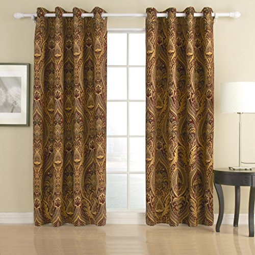 IYUEGO Cotton Chenille/Rayon Grommet Top Curtain With Multi Size Custom 72