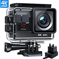 Victure Actioncam 4K WiFi 170° Weitwinkel Aktionkameras estanco