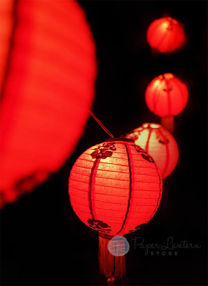 PaperLanternStore.com BULK CASE 30'' Traditional Chinese New Year Paper Lanterns w/Tassel (10 PACK)