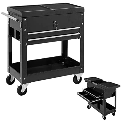 .com: rolling mechanics tool cart slide top utility storage ...