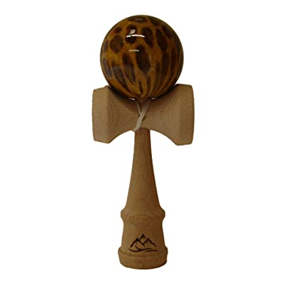 Brown/Yellow Leopard Kendama: Toys & Games