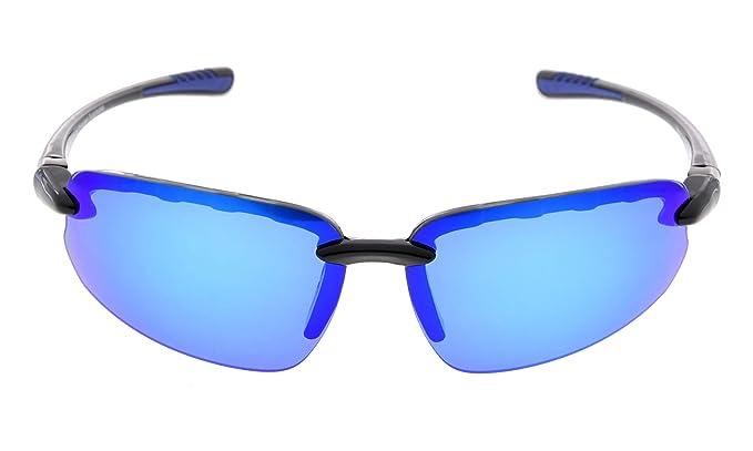 3b3ac98f353 Eyekepper Polycarbonate Polarized Sport Sunglasses For Men Women Half  Rimless Baseball Running Fishing Driving Golf Softball Hiking TR90  Unbreakable Black ...