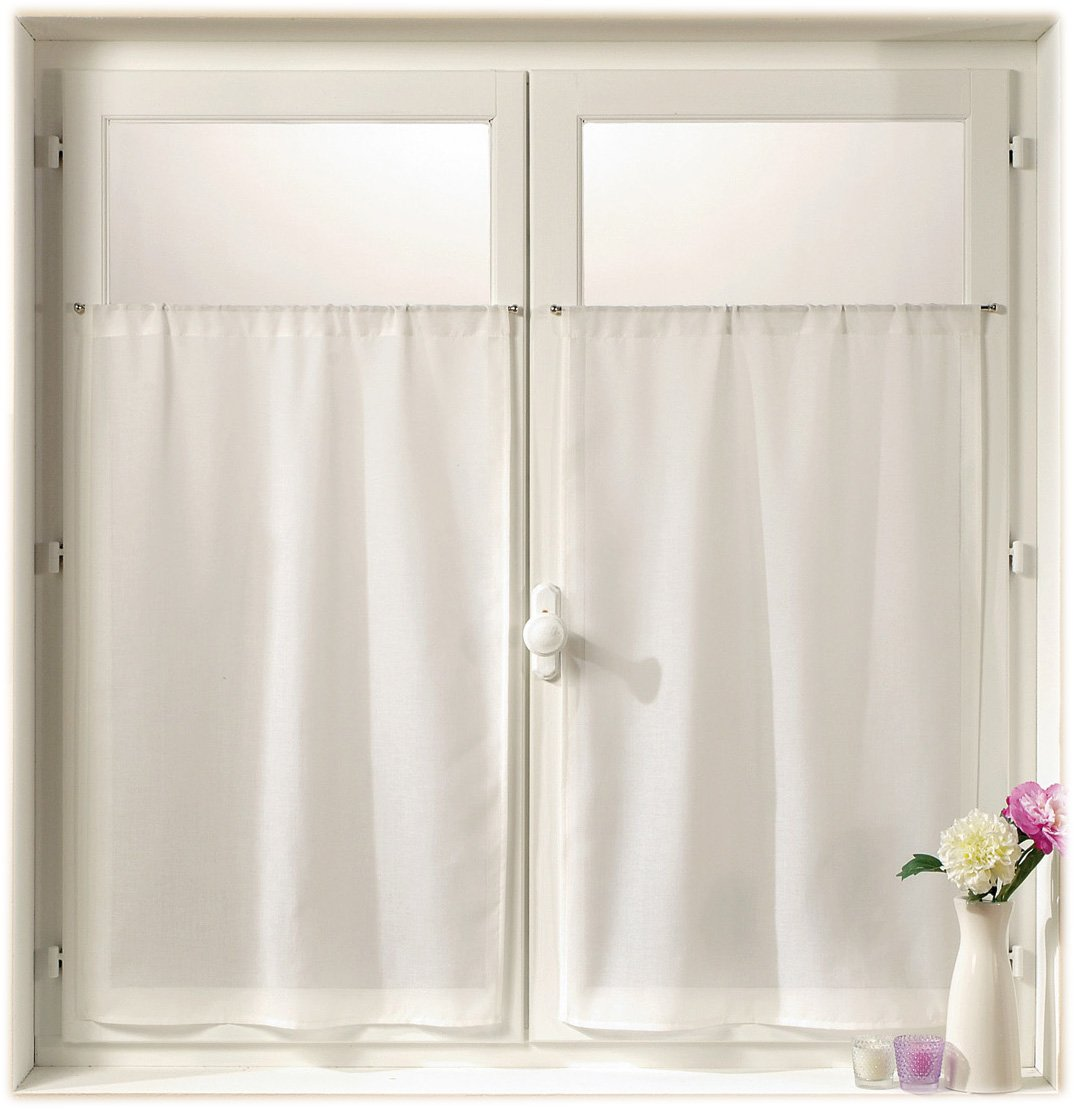 Linder, Tendine a metà finestra, 2 pz, Bianco (weiß), 45 x 60 cm 0323 /15/415/45 x 60