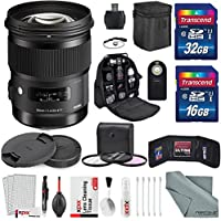Sigma 50mm f/1.4 DG HSM Art Lens for Nikon F with Deluxe Accessory Bundle, and Xpix Deluxe Cleaning Accessories