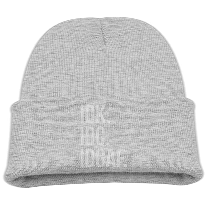 7545fba5d95 IDK IDC IDGAF Classic Casual Boys Girls Knit Caps