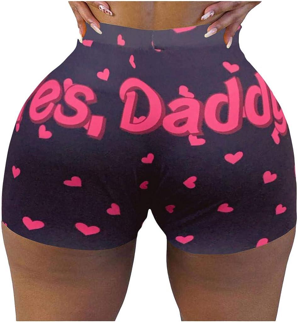 Fashion Women Hot Shorts Letters Print Yoga Sport Workout Clubwear Homewear