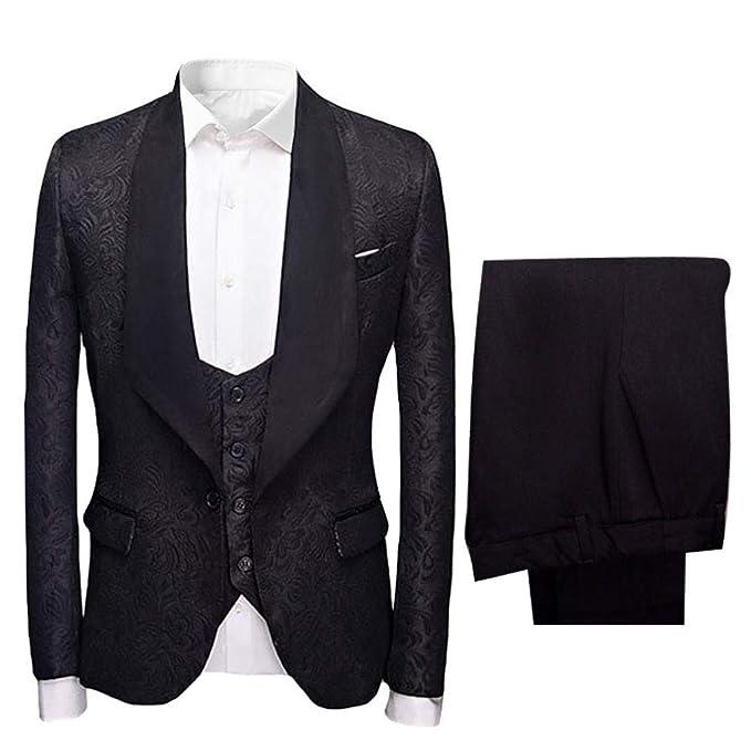 Amazon.com: Frank - Conjunto de 3 piezas de trajes de boda ...