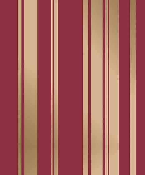 Stripe Wallpaper Striped Stripey Foils Metallic Shiny Gold Red Fine