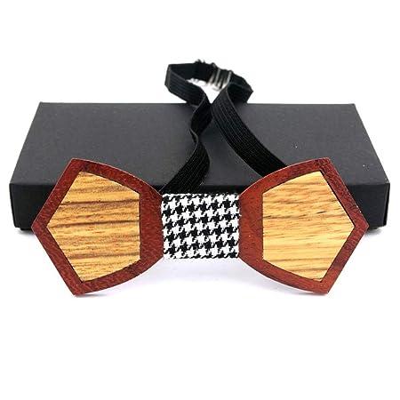 Pajarita de madera para hombre Caja de corbata de madera a juego ...