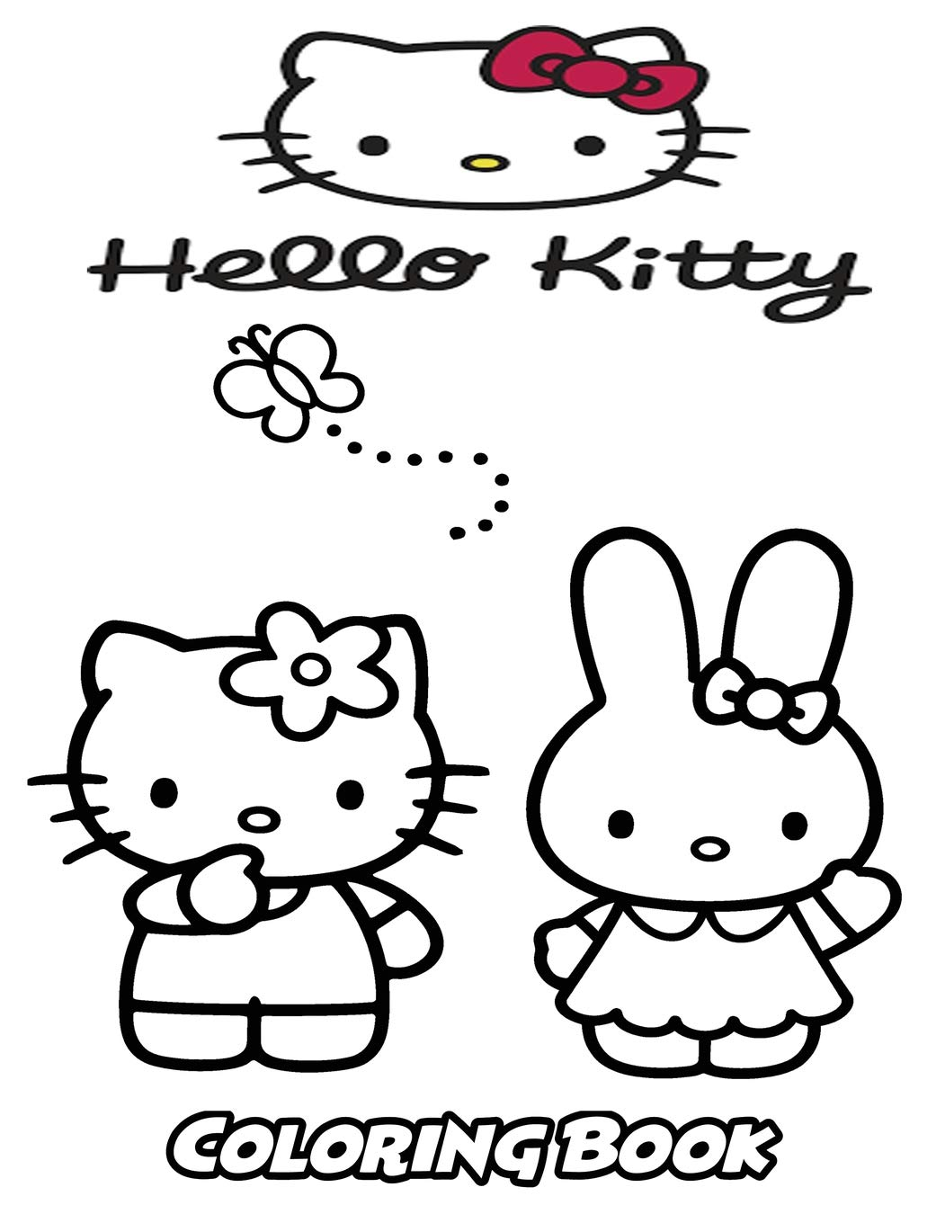 Hello kitty coloring book coloring book for kids and adults activity book with fun easy and relaxing coloring pages perfect for children ages 3 5 6 8