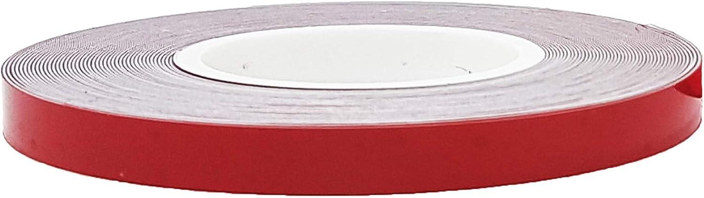 4R Quattroerre.it 10302 - Tiras adhesivas reflectantes para llantas de coche, color rojo