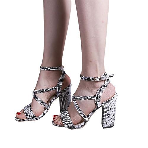 Zapatos Correa Pescado Hebilla Tacon Moda Boca Ihaza Mujer WoedBCxr