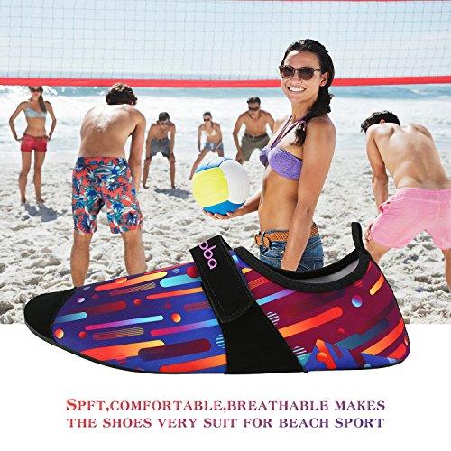 Sibba Unisex Pelle Dacqua A Piedi Nudi Aqua Scarpe Quick Dry Beach Swim Surf Yoga Scarpe Da Ginnastica Per Donna Uomo E Bambino New-multicolor