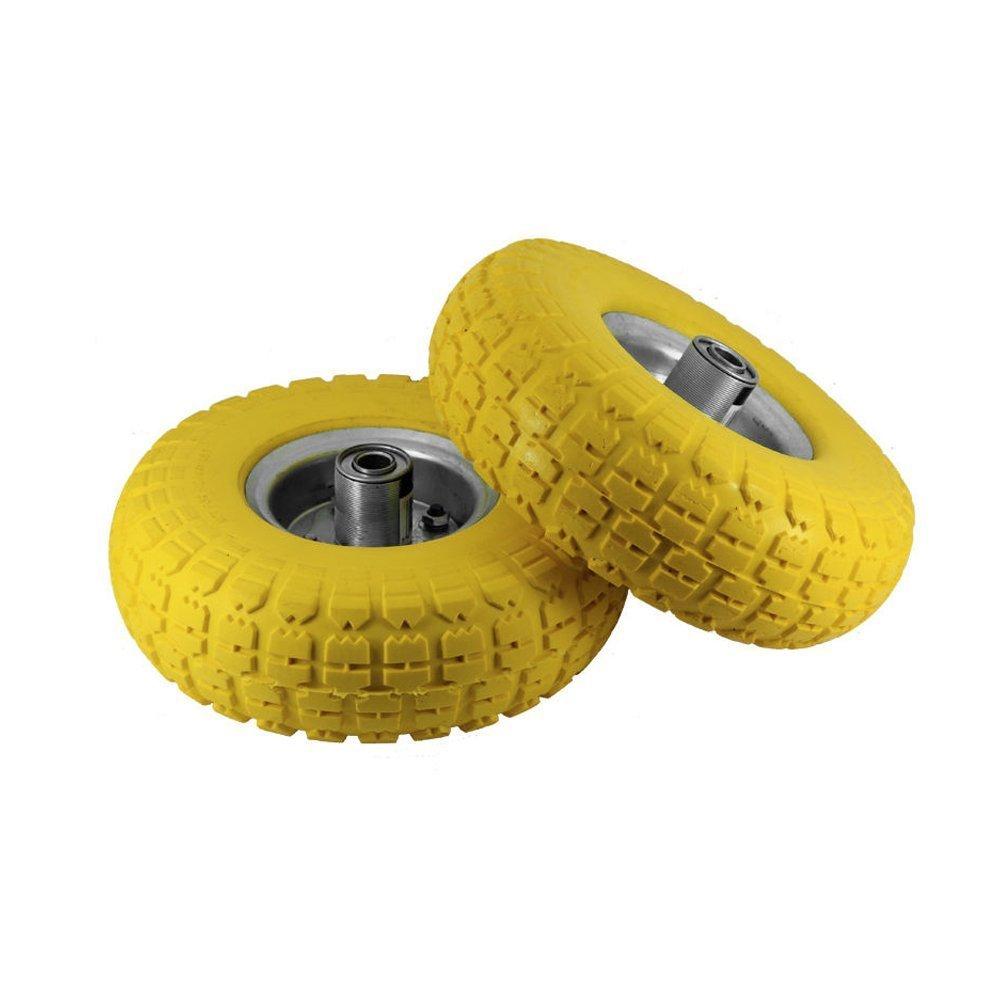 Ersatzgummireifen für Transportroller/Sackkarre, 5,1cm x 25,4cm, robuster Vollgummi, Gelb