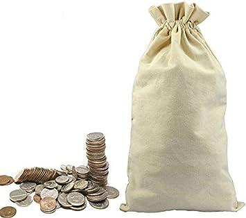 MONEY BAGS 3 CANVAS ... ..DOLLAR ...BANK COIN SACKS